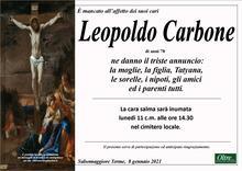Necrologio di Leopoldo Carbone