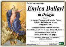 Necrologio di Enrica Dallari in Davighi