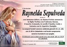 Necrologio di Raynelda Sepulveda
