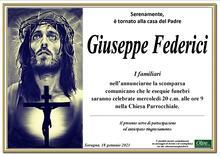 Necrologio di Giuseppe Federici