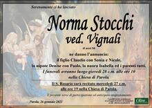 Necrologio di Norma Stocchi