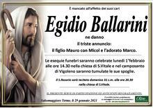 Necrologio di Egidio Ballarini