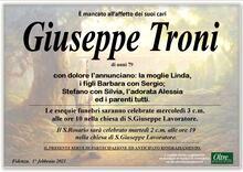 Necrologio di Giuseppe Troni