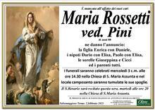 Necrologio di Maria Rossetti ved. Pini