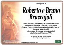 Necrologio di Roberto e Bruno Braccajoli