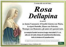 Necrologio di Rosa Dellapina