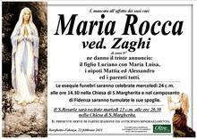 Necrologio di Maria Rocca ved. Zaghi