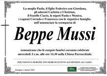 Necrologio di Giuseppe Mussi