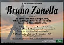 Necrologio di Bruno Zanella