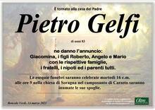 Necrologio di Pietro Gelfi