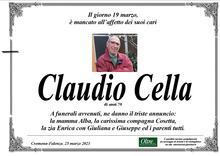 Necrologio di Claudio Cella