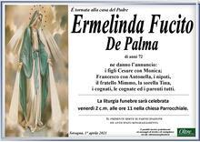 Necrologio di Ermelinda Fucito De Palma