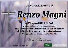 Ringraziamento per Renzo Magni