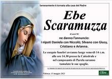 Necrologio di Ebe Scaramuzza