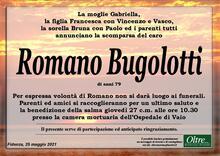 Necrologio di Romano Bugolotti