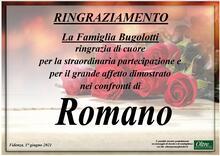 Ringraziamento per Romano Bugolotti