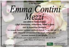 Necrologio di Emma Contini Mezzi