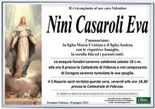 Necrologio di Ninì Casaroli Eva