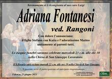 Necrologio di Adriana Fontanesi ved. Rangoni