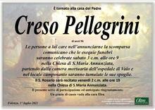 Necrologio di Creso Pellegrini