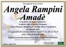 Necrologio di Angela Rampini Amadè