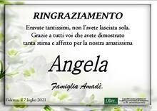 Ringraziamento per Angela Rampini Amadè