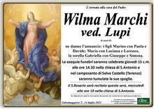 Necrologio di Wilma Marchi ved. Lupi