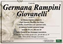 Necrologio di Germana Rampini Giovanelli