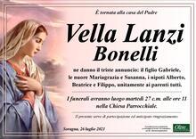 Necrologio di Vella Lanzi Bonelli
