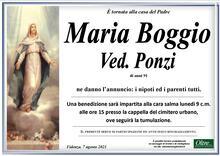 Necrologio di Maria Boggio Ved. Ponzi