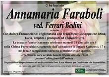 Necrologio di Annamaria Faraboli ved. Ferrari Bedini