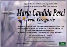 Necrologio di Maria Candida Pesci ved. Gregoric