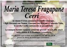 Necrologio di Maria Teresa Fragapane Cerri