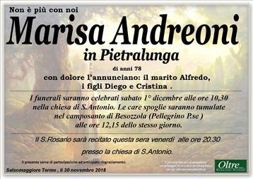 Necrologio di Marisa Andreoni