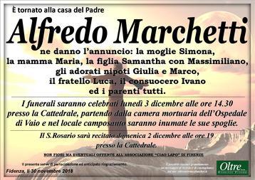 Necrologio di Alfredo Marchetti