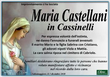 Necrologio di Maria Castellani