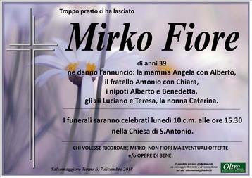 Necrologio di Mirko Fiore