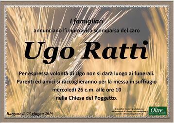 Necrologio di Ugo Ratti