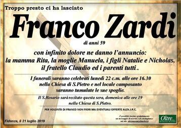 Necrologio di Franco Zardi