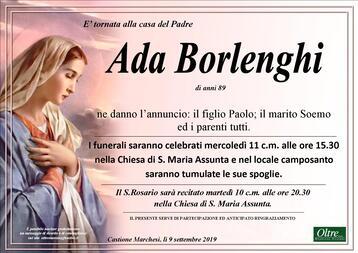 Necrologio di Ada Borlenghi