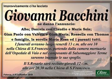 Necrologio di Giovanni Bacchini
