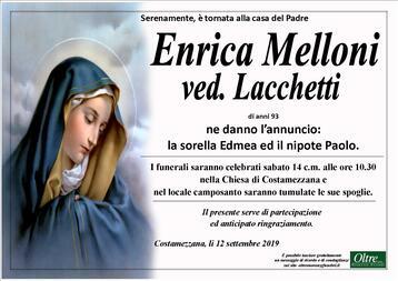 Necrologio di Enrica Melloni ved. Lacchetti