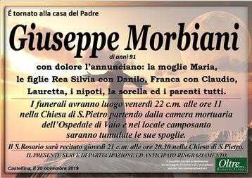 Necrologio di Giuseppe Morbiani