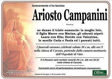 Necrologio di Ariosto Campanini