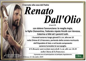 Necrologio di Renato Dall'Olio