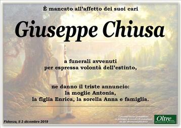 Necrologio di Giuseppe Chiusa