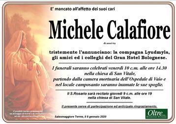 Necrologio di Michele Calafiore