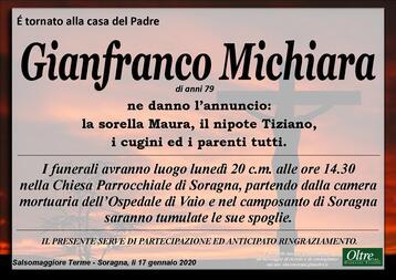Necrologio di Gianfranco Michiara