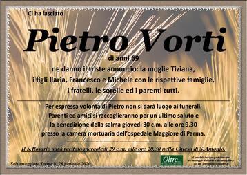 Necrologio di Pietro Vorti