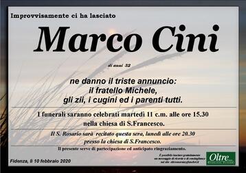 Necrologio di Marco Cini